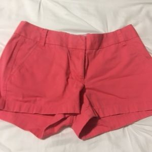 """J. Crew Chino Shorts 3"""" in Coral"""